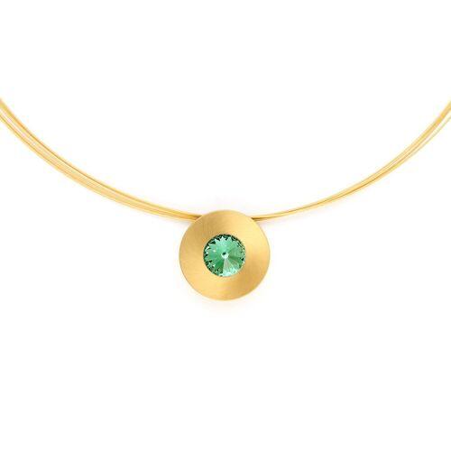 Heideman Kettenanhänger »Lumen Goldfarben«, mit Kristall, Chrysolite