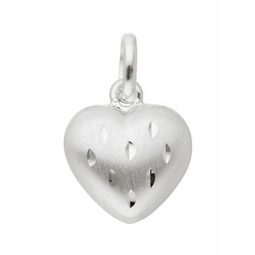 Adelia´s Kettenanhänger »925 Silber Anhänger Herz«, Silberschmuck für Damen