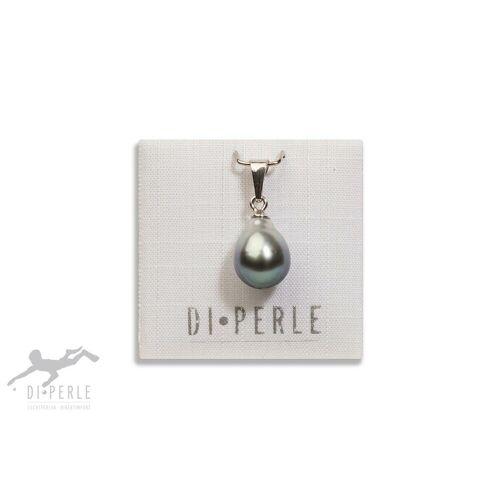 DI PERLE Perlenanhänger »925 Silber Tahiti Perlen Anhänger«, Damen Perlenschmuck