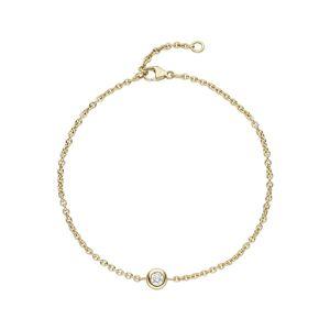 Jobo Armband, 750 Gold mit Diamant