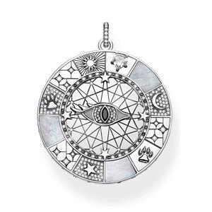 THOMAS SABO Kettenanhänger »Amulett mystische Symbole, PE854-642-18«, mit Perlmutt und Zirkonia