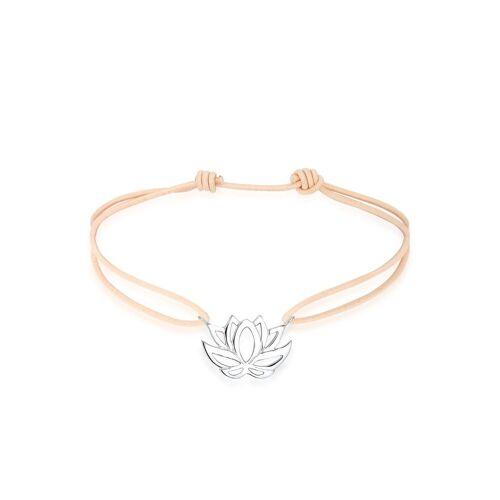 Elli Armband »Talisman Blume Lotusblüte 925 Silber Nylon«, Lotusblume