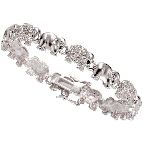 Firetti Armband »Elefanten«, mit Zirkonia