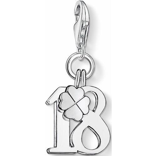 THOMAS SABO Charm-Einhänger »Glückszahl 18, 0473-001-12«