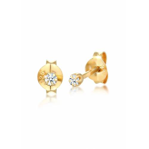 Diamore Paar Ohrstecker »Stecker Diamant 0.06 ct. Solitär 925 Silber«, Solitär-Ohrring