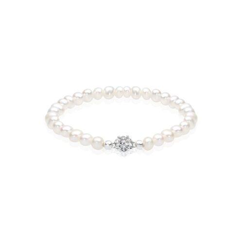 Elli Perlenarmband »Süßwasserperlen Swarovski Kristalle 925 Silber«