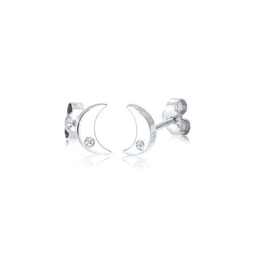 Elli Paar Ohrstecker »Halbmond Astro Diamant (0.04 ct) 925 Silber«