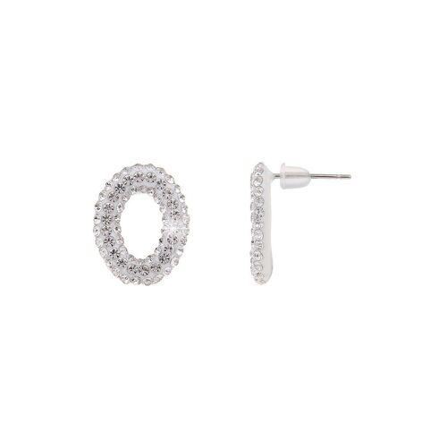 leslii Ohrringe im funkelnden Design, silber-weiß