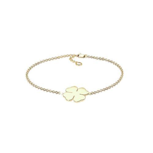 Elli Armband »Kleeblatt Glücksbringer 375 Gelbgold«