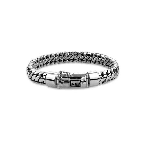 Kuzzoi Armband »Herrenschmuck Panzerarmband Rund Basic 925 Silber«