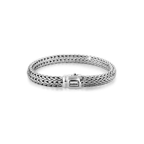 Kuzzoi Armband »Gliederarmband Basic Cool unisex 925 Silber«