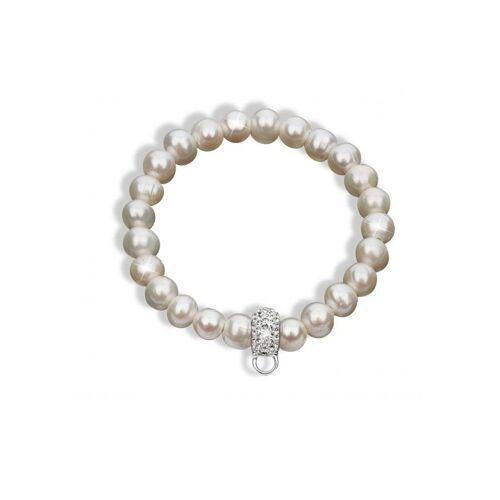 Nenalina Perlenarmband »Süßwasserperle Swarovski® Kristalle 925 Silber«