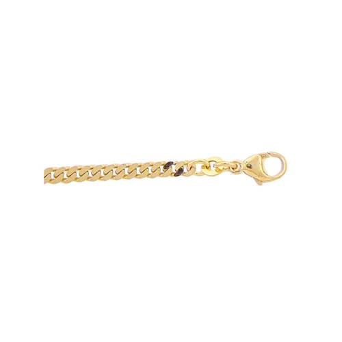 Adelia´s Goldarmband »333 Gold Flach Panzer Armband 18,5 cm«, Flach Panzerkette Goldschmuck für Damen