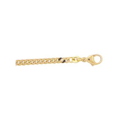 Adelia´s Goldarmband »333 Gold Flach Panzer Armband 21 cm«, Flach Panzerkette Goldschmuck für Damen