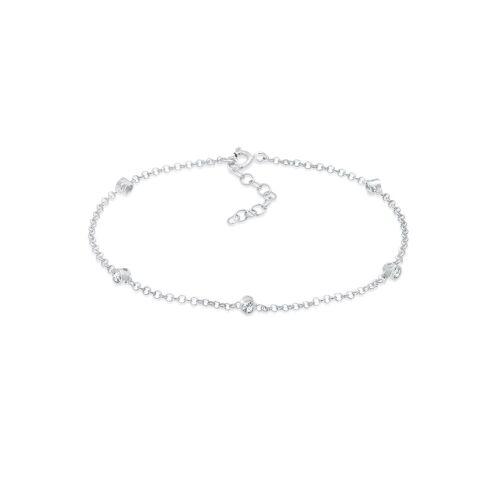 Elli Armband »Swarovski® Kristalle Klassik 925 Silber«, Kristall Armband, Silber