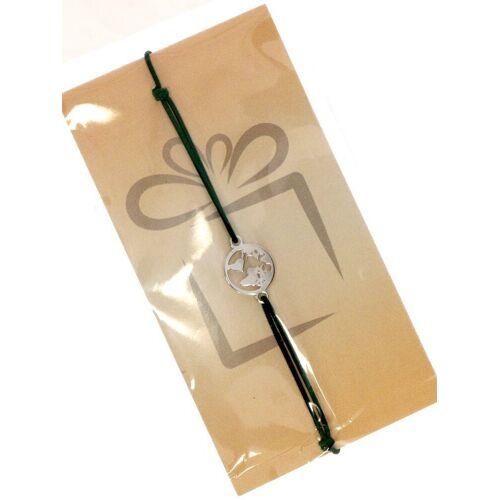 Adelia´s Armband »Stein Armband - Weltkugel - 925 rosé Silber«