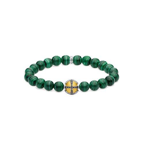 THOMAS SABO Armband »Kreuz grün, A1930-555-6-L18, L19,5«, mit imit. Malachit und Zirkonia