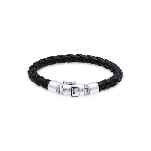 Kuzzoi Armband »Herren Lederarmband Kastenverschluss 925 Silber«