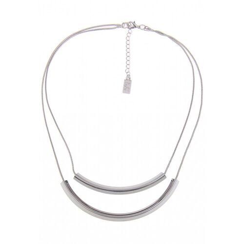 leslii Halskette mit Karabinerverschluss, silber