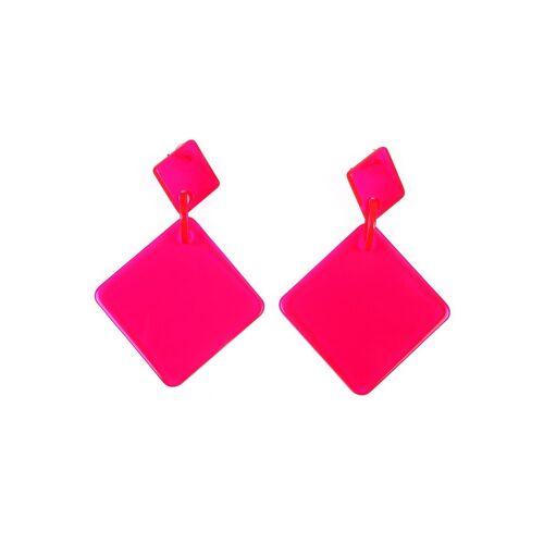J.Jayz Paar Ohrstecker »modisches Quadrat in Neon-Optik«