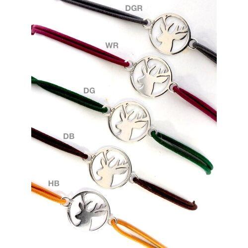 Adelia´s Armband »Stein Armband - Hirsch - 925 Silber«