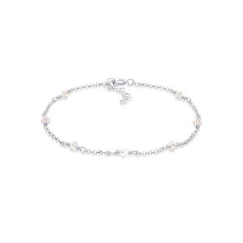 Elli Armband »Elegant Swarovski® Kristalle 925 Silber«, Kristall Armband, Silber
