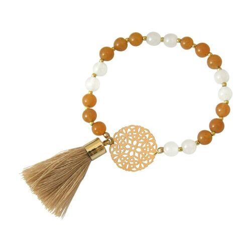 Gemshine Charm-Armband »Jade Mala Mandala Armband«, Made in Germany