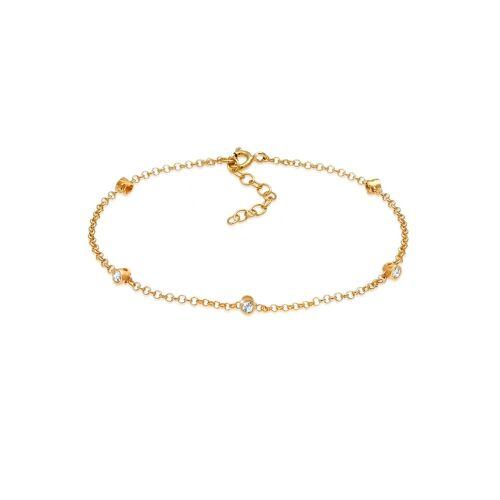 Elli Armband »Swarovski® Kristalle Klassik 925 Silber«, Kristall Armband, Gold