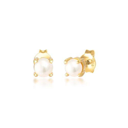 Elli Perlenohrringe »Süsswasserzuchtperle Klassic 925 Silber«, Perle, Gold