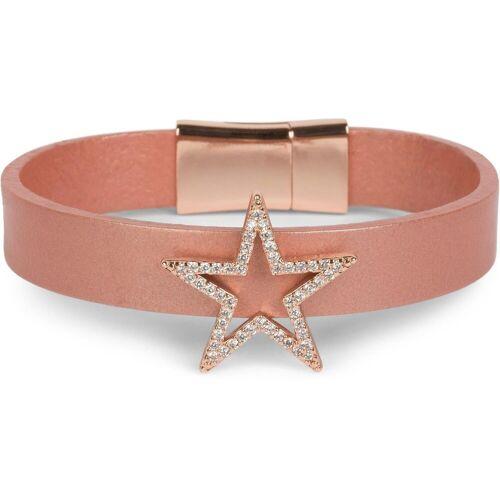 styleBREAKER Armband »Armband mit Stern & Strass«, Armband mit Stern & Strass, Rose