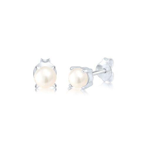 Elli Perlenohrringe »Süsswasserzuchtperle Klassic 925 Silber«, Perle, Silber