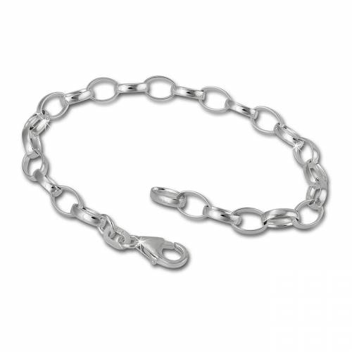 SilberDream Charm-Armband »FC01XA Charmsarmband silber Charms« (Charmsarmbänder), Charmsarmbänder ca. 20cm, 925 Sterling Silber, Farbe: silber, Made-In Germany