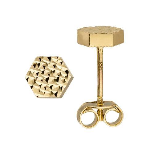 Jobo Paar Ohrstecker, sechseckig 333 Gold