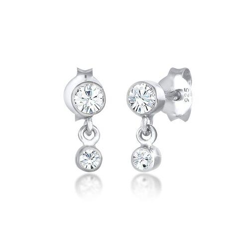 Elli Ohrhänger-Set »Ohrhänger Swarovski® Kristalle 925 Silber«, Kristall Ohrhänger, Silber