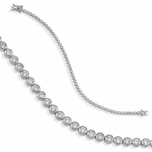 dKeniz Armband »925/- Sterling Silber Tennisarmband«, Silber