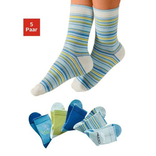H.I.S Socken (5-Paar) mit verstärkter Ferse & Spitze