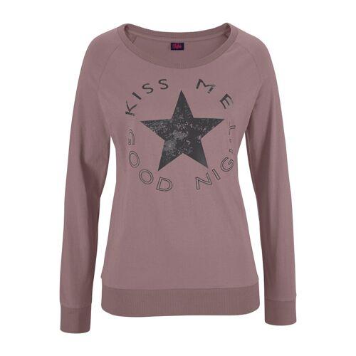 Buffalo Pyjama mit Sternenprint, mauve-schwarz