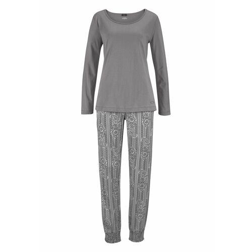 Buffalo Pyjama mit Ethno-Print, grau-gemustert