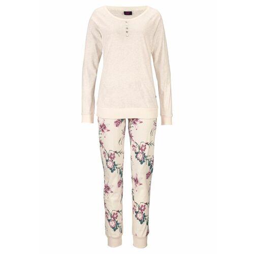 Buffalo Pyjama mit Blumenprint in N-Größen, beige-geblümt