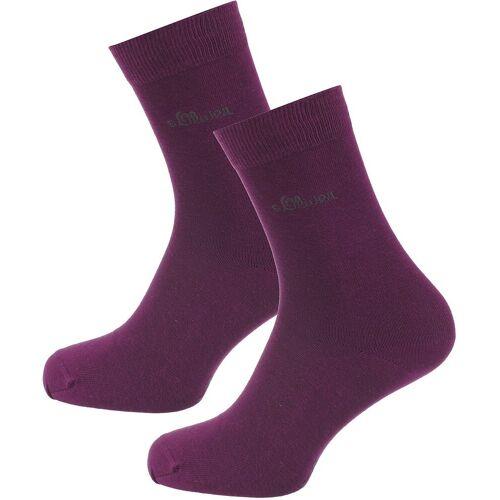 s.Oliver Socken »2 Paar Socken Classic«, lila