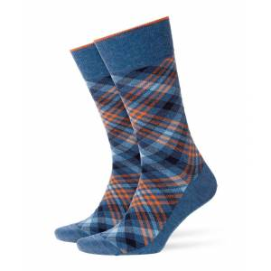 Burlington Kurzsocken »Herren Socken, CADOGAN - Rautenmuster, Labeling«, Light Denim