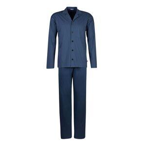 HUBER Pyjama Oberteil geknöpft Baumwolle, 6692 blau