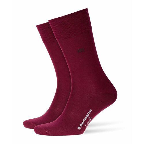 Burlington Kurzsocken »Herren Socken LEEDS - Schurwolle, Logo, Uni, One«, Weinrot