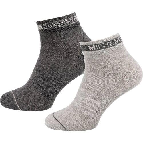 MUSTANG Socken »3 Paar Kurzsocken«, grau