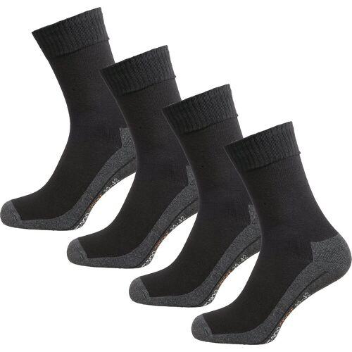 Camano Socken »4er Pack Sportsocken«, schwarz