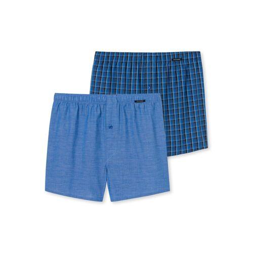 Schiesser Boxershorts »Herren Boxershorts 2er Pack - Shorts, Webware,«, Blau