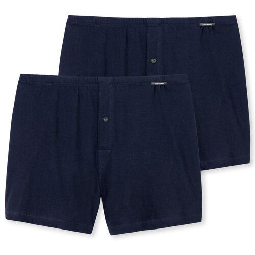 Schiesser Boxershorts »Herren Boxershorts 2er Pack - Shorts, Single«, Blau
