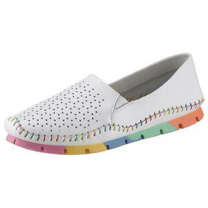 COSMOS Comfort Slipper mit bunter Laufsohle, weiß-multi