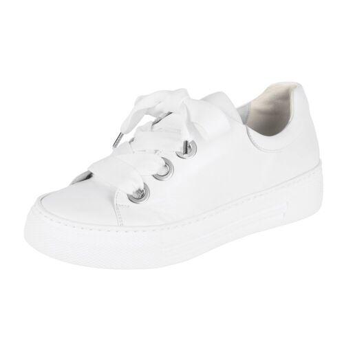 Gabor Sneaker mit breiten Schnürsenkeln, weiß