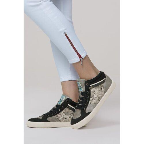 SOCCX Sneaker in Reptil-Optik, grau
